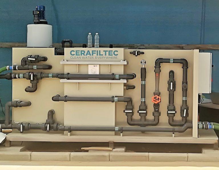 Ceramic flat sheet membrane - CERAFILTEC - Skid pilot unit