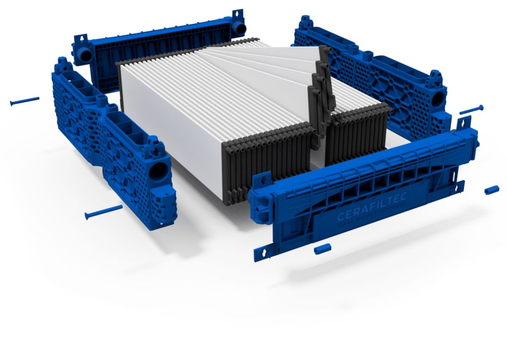 Ceramic flat sheet membrane - CERAFILTEC - Module 6.0 S exploded
