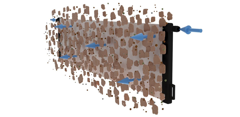 Ceramic flat sheet membrane - CERAFILTEC - Backwash single plate illustration