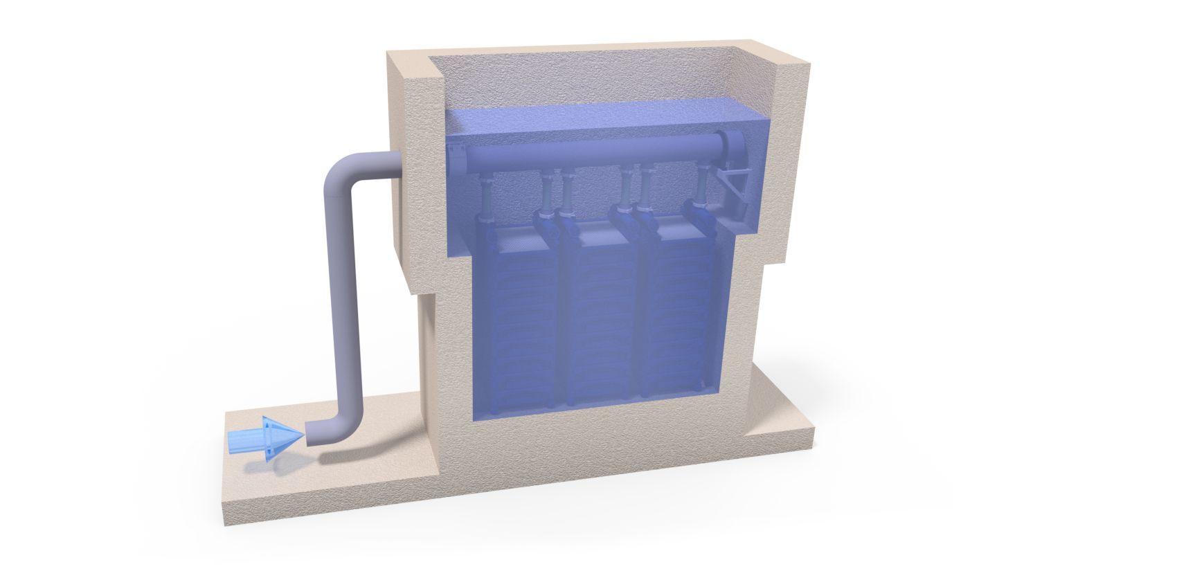 Ceramic flat sheet membrane - CERAFILTEC - installation in tank