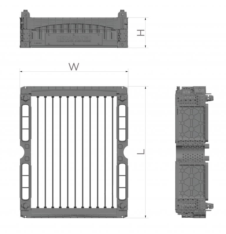 Ceramic flat sheet membrane - CERAFILTEC - module dimensions sludge thickening