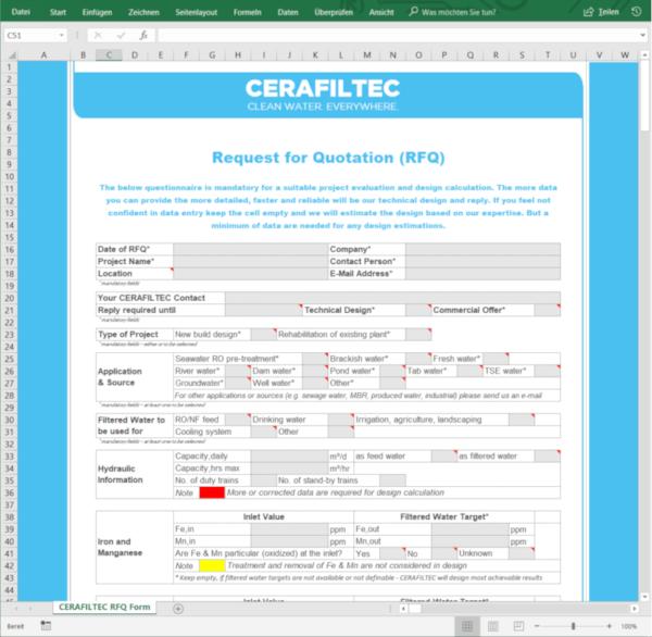 Ceramic flat sheet membrane - CERAFILTEC - RFQ screenshot