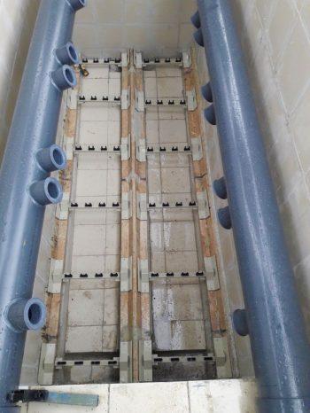 Ceramic flat sheet membrane - CERAFILTEC - train installation 1