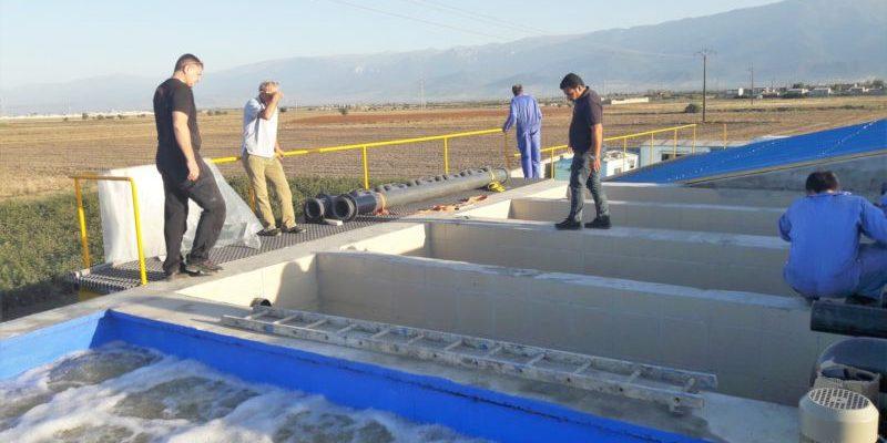 Ceramic flat sheet membrane - CERAFILTEC - train installation 2