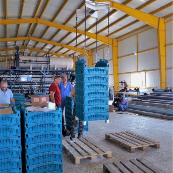 Ceramic flat sheet membrane - CERAFILTEC - train installation 5